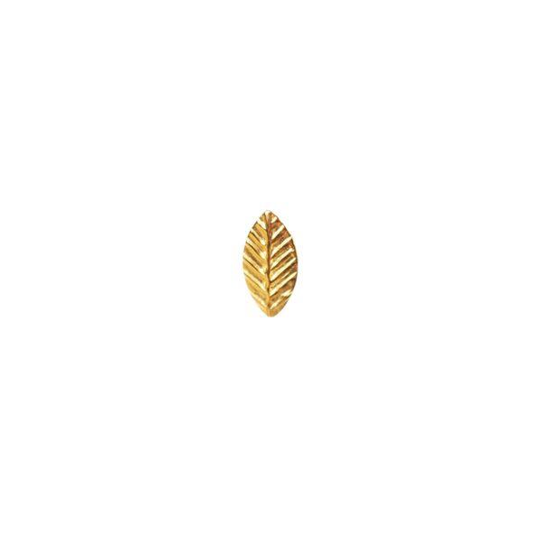 PENDIENTE HOJA GOLD